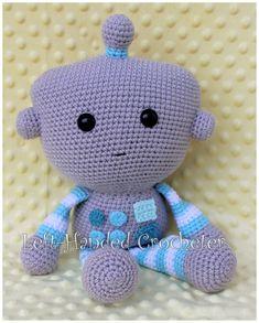 Kijk wat ik gevonden heb op Freubelweb.nl: een gratis haakpatroon van The Left-Handed Crocheter om deze leuke robot te maken https://www.freubelweb.nl/freubel-zelf/gratis-haakpatroon-robot/
