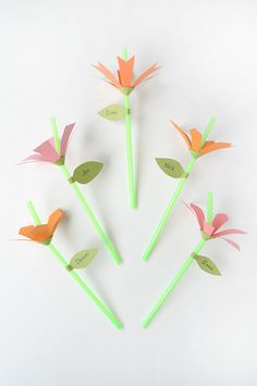 DIY Flower Straws Tutorial