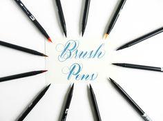 Brush Pen Tutorial – The Postman's Knock Calligraphy Supplies, Brush Pen Calligraphy, Calligraphy Tutorial, Calligraphy Handwriting, Learn Calligraphy, Lettering Tutorial, Calligraphy Letters, Brush Lettering, Modern Calligraphy