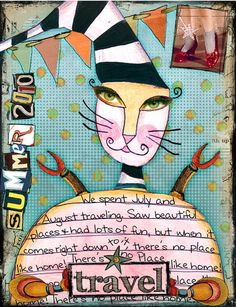 ART JOURNAL TO  EXERCISE YOUR CREATIVE MUSCLES (Tangie Baxter)