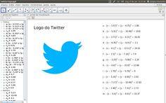 Criando o logotipo do Twitter usando o GeoGebra