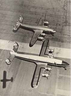 Size comparison between the L-749 and the L-1049 Super Constellation