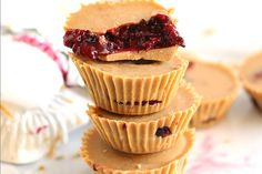 Peanut Butter and Jelly Cups [Vegan, Gluten-Free] | One Green Planet
