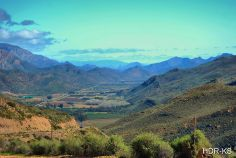 A valley on the R407 between De Rust and Prince Albert in the Western Province, South Africa.
