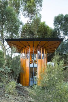 This tiny tubular treetop studio with it's incredible detail and daylight...