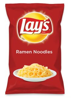 """Wouldn't Ramen Noodles be yummy as a chip?  If you want this to be a flavor vote for it by clicking on this pin, go to the website, and click the button that says """"I'd eat that!"""""""