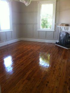 Living room floor now varnished!
