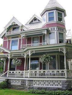 Beautiful Victorian with Gingerbread Trim house victorian architecture 19th century trim exterior gingerbread exterior design