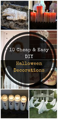 Creative DIY Halloween Decorations! Cheap and easy last minute dollar store DIY Halloween Decorations!