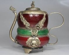 Chinese Old Porcelain Handwork Dragon Phoenix Tea pot ☆☆☆☆☆