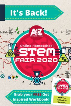 It's back! Join us for the second year of our Online Homeschool STEM Fair! Get the kids learning and ready to enter to win prizes! Stem Fair Projects, School Science Projects, Homeschool Blogs, Homeschooling, What Is Stem, Stem For Kids, Steam Activities, Science Fun, Win Prizes