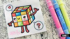 Kawaii Rubik's Cube - How To Draw Cute Toys by Garbi KW