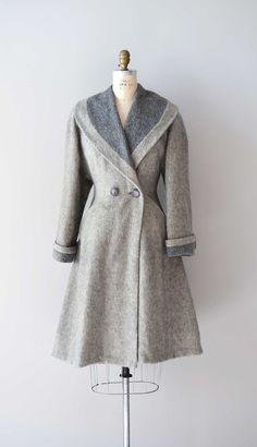 vintage 1940s FOND FAREWELL wool princess coat