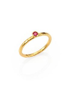 GURHAN - Delicacies Ruby & 24K Yellow Gold Skittle Stacking Ring