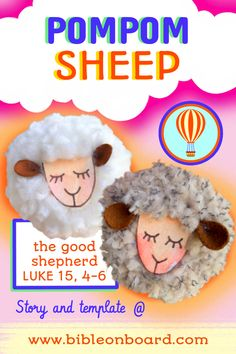 read the story + make a pompom keychain/ornament that will follow you everywhere🐑🐑🐑 Sheep Crafts, The Good Shepherd, Bible Crafts, Teddy Bear, Good Things, Activities, Toys, Ornament, How To Make
