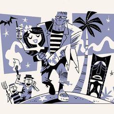 King of the monsters by #Derek_Yaniger (#retro_illustration, horror)