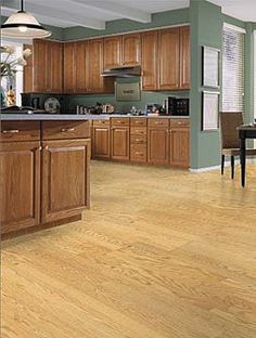 Laminate kitchen floor and wall color