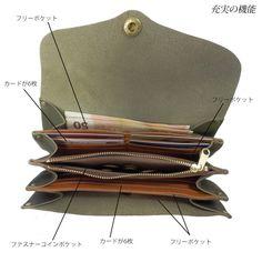 フルベジタブルタンニングの栃木レザーを使用した財布です。使うほどに味わいが増し、愛着の一品になるでしょう。内部は4つに仕切られ、カードやレシートの仕分けにも便利。お好みの色をお選びください。国産素材:牛革仕様:ファスナー付ポケットx1 ポケットx1 カードポケットx12枚分サイズ:W215 H105 D35
