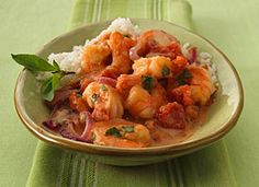Thai Seared Shrimp with Tomato, Basil and Coconut Recipe - Tablespoon