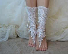 black Free ship barefoot sandals Beach wedding shoes by UnionTouch wedding sandals This item is unavailable Barefoot Sandals Wedding, Beach Wedding Shoes, Bridal Sandals, Beach Shoes, Blue Sandals, Bare Foot Sandals, Lace Weddings, Wedding Lace, Elegant Wedding