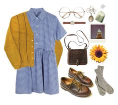 """Untitled #136"" by chickensoup456 on Polyvore featuring Dr. Martens, Vintage Collection, J.Crew and CO"