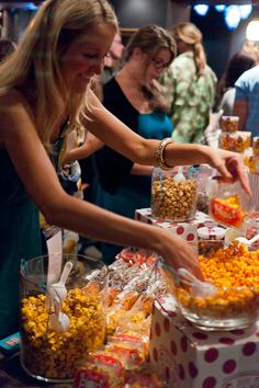 Just Pop In! popcorn bar at Indy Film Fest's Opening Night Party.