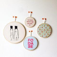 Embroideries by Clube do Bordado #clubedobordado #embroidery #bordado