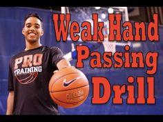 How To: Improve Your Weak Hand Passing Basketball Drills, Basketball Players, Passing Drills, Basketball Information, Nba, Improve Yourself, Workouts, Training, Sports
