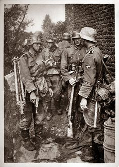 Waffen-SS Regiment Germania.  The enemy we fought in WW II was serious and wore uniforms.