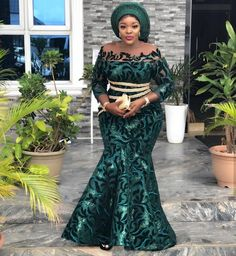 African Party Dresses 2019 : Trendy Styles You Should Rock for Weekend Parties African Fashion Ankara, Latest African Fashion Dresses, African Print Fashion, Dress Fashion, Fashion Outfits, African Party Dresses, Long African Dresses, Nigerian Lace Styles, African Lace Styles