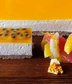 Simon Hulstone's passion fruit and vanilla cheesecake recipe provides a sumptuous treat which both looks and tastes delicious. Passion fruit purée for this lovely dessert can be bought online or from selected health and food retailers.