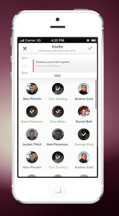 Schedule App –– Invite user to event screen by George Gliddon Nice Idea of adding people to an event