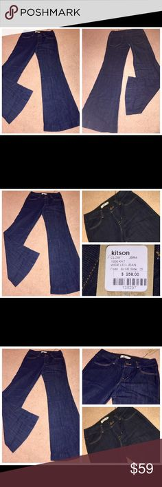 NWT J Brand Kat Wide Leg Flare Jeans Size 25 30x35 NWT J Brand Kat Wide Leg Flare Jeans Women's Size 25 X 35. Measurements: Waist- 30''. Rise- 8 1/2''. Inseam- 35''. Leg opening- 13'' across. Made of 60% Cotton and 40% Linen. J Brand Jeans Flare & Wide Leg