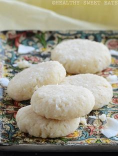 Soft, Chewy Coconut Cookies -- Hard to believe it, but these are healthy enough for breakfast! 3 of these delectable cookies make a full protein/healthy fat serving.