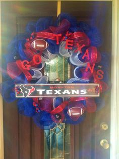Your place to buy and sell all things handmade Bulls On Parade, Houston Texans Football, Jj Watt, Texas Forever, Texas Pride, Watch Football, Boy Birthday Parties, Sports Humor, Wreath Ideas