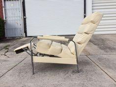 mid century modern chrome milo baughman recliner lounge chair  | eBay
