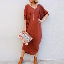Celeb Women V Neck Batwing Sleeve Asymmetric Hem Loose Oversized Dress Plus Size Elegant Dresses For Women, Casual Dresses, Drape Maxi Dress, Oversized Dress, Lady V, Batwing Sleeve, Plus Size, Shirt Dress, Clothes For Women