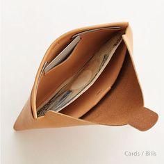 seamless long wallet / nude