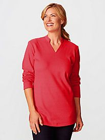 Women's Prima Cotton Split-Neck Tunic