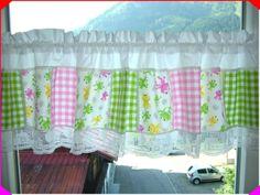 Kinderzimmer,-Scheibengardine, Patchwork-Style von Marions-Naehstube auf DaWanda.com