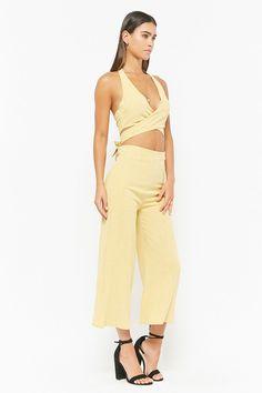 Halter Crop Top   Culotte Pants Set f575c5265
