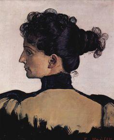 """Ferdinand Hodler  """"Portrait de Berthe Jacques""""-1894"""