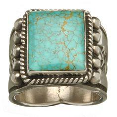 Bague #Navajo #turquoise #8 et #argent. Available online. http://www.harpo-paris.com/fr/ #Harpo #bijoux #homme #bague #amérindien #bagueturquoise #navajo