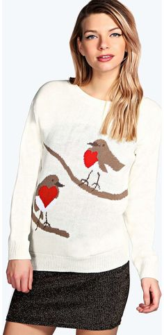boohoo Robin Red Breast Jumper - cream azz14831 Go back to nature with your knits this season and add animal motifs to your must-haves. When youre not wrapping up in woodland warmers, nod to chunky Nordic knits and polo neck jumpers in peppered mar http://www.comparestoreprices.co.uk/womens-clothes/boohoo-robin-red-breast-jumper--cream-azz14831.asp