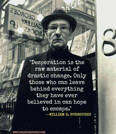 True change. Burroughs