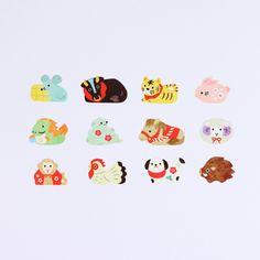 Japanese Art Styles, Japanese Patterns, Japanese Prints, Red Packet, Kawaii Illustration, Soul Art, Chinese Art, Little Gifts, Cat Art