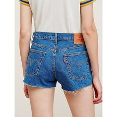 Levi's 501 Cutoffs ($100) ❤ liked on Polyvore featuring levi cut offs