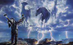 Native American War Horses | Calling thunder, horses, Indian, lightning, native American, ocean