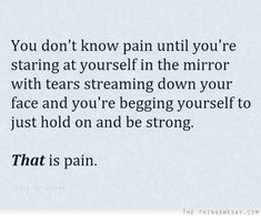 That is pain.