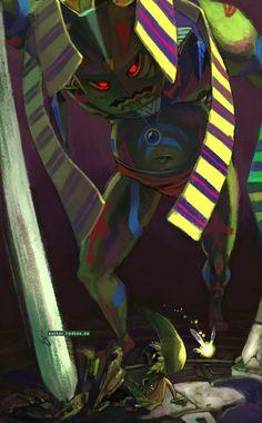 Legend of Zelda Majora's Mask art > Boss Battle : Deku Link vs Odolwa The Legend Of Zelda, Legend Of Zelda Breath, Tarot, Nintendo, Link Zelda, Twilight Princess, Manga, Game Character, Game Art